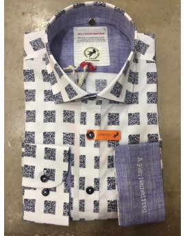 CAMISA BLANCA QR A FISH NAMED