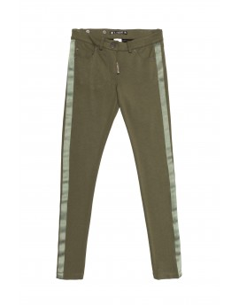 PANTALON ELASTICO ESCUDO KAKI HIGHLY PREPPY